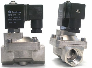 Solenoid Valve, Stainless steel, 3/4 inch, 230 V AC