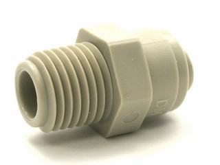 Male Connector  -  1/4 inch Tube x 1/4 inch NPTF