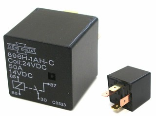 Automobile Relay -  Type 896H-1AH-C 24 -  Nominal Voltage: 24 V DC -  Spool Resistance: 360 Ohm -    Contact Type: 1 AK