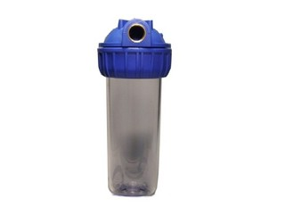 Filter Housing -  transparent -  9,75 inch x 2,5 inch -  3/4 inch Connections