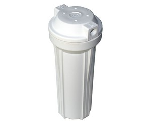 Filter Housing -  white -  1/4 inch Connections -  9,75 inch x 2,5 inch -