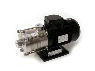 Horizontal Centrifugal Multistage Pump CHLF2-40<br>Q/max.: 2m³/h<br>H/max. : 28m<br>3-phase induction motor<br>220 / 380 V, 50/60 Hz<br>2,22 / 1,28 A<br>2756 r.p.m.<br>